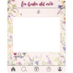Photocall Boda Instagram flores silvestres